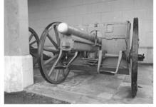 Thumbnail image of 77mm RBL field gun and carriage (Model 1896). German, 1915