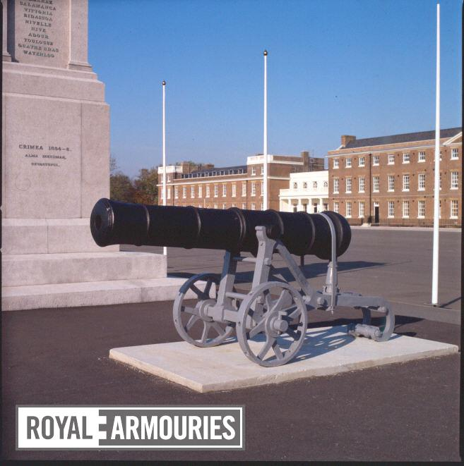 12 pr gun and garrison carriage Made of bronze Carriage is Russian and made of wrought iron