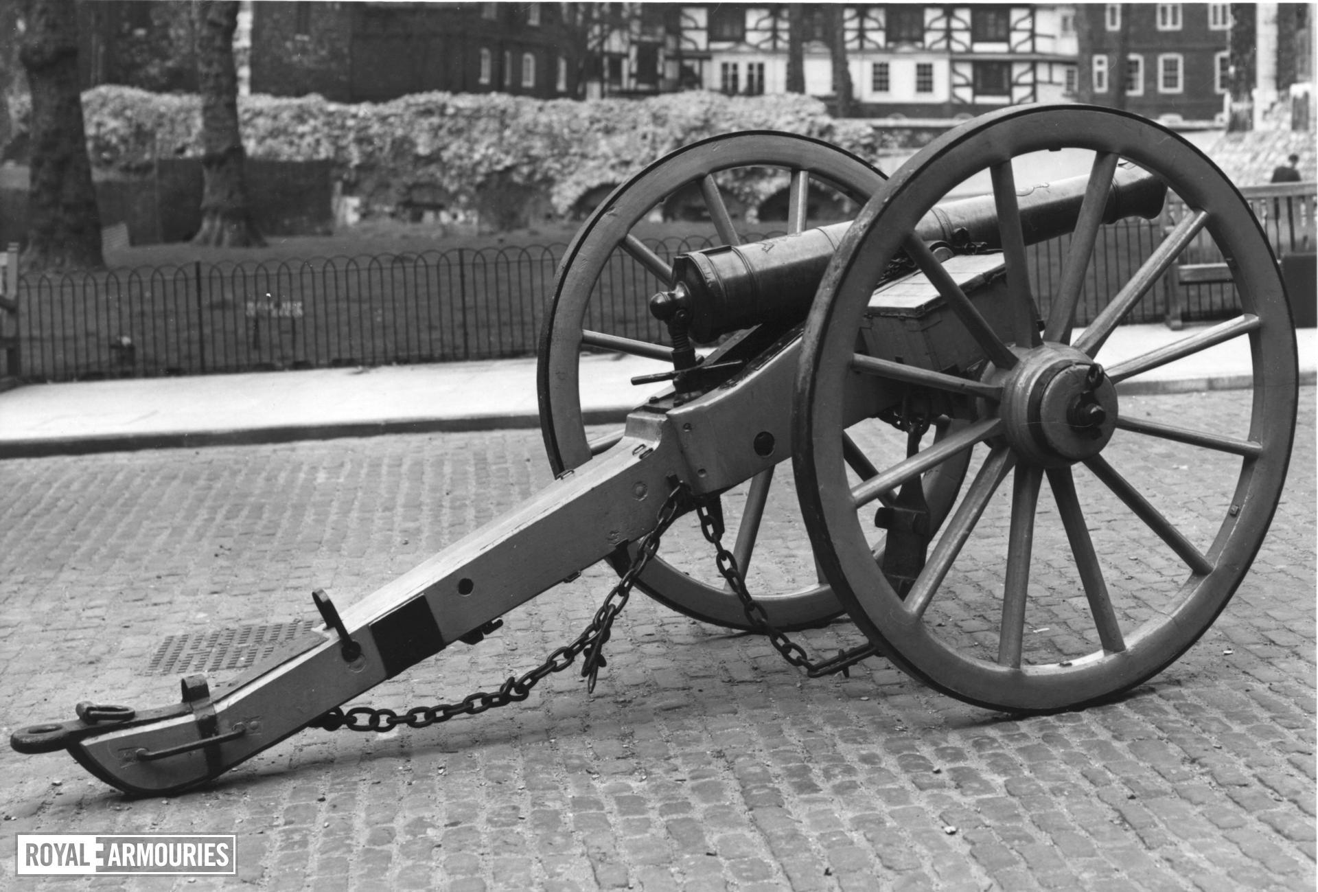 6 pr gun and field carriage