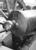 Thumbnail image of 6 pr gun and carriage Made of bronze Cast by Berenger Carriage about 1950