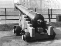 Thumbnail image of 32 pr gun and garrison carriage - Monk Pattern Made of Iron Cast by Walker & Co A Monk design of 1838 with Millar pattern rear sight