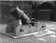 Thumbnail image of 13 in mortar and bed Made of bronze Cast by Andrew Shalch