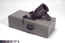 Thumbnail image of 4.5 in mortar and bed - Coehorn mortar Made of bronze