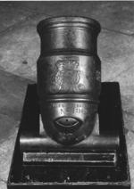 Thumbnail image of 4.4 in mortar - Coehorn mortar Made of bronze Cast by I.P. Verbruggen