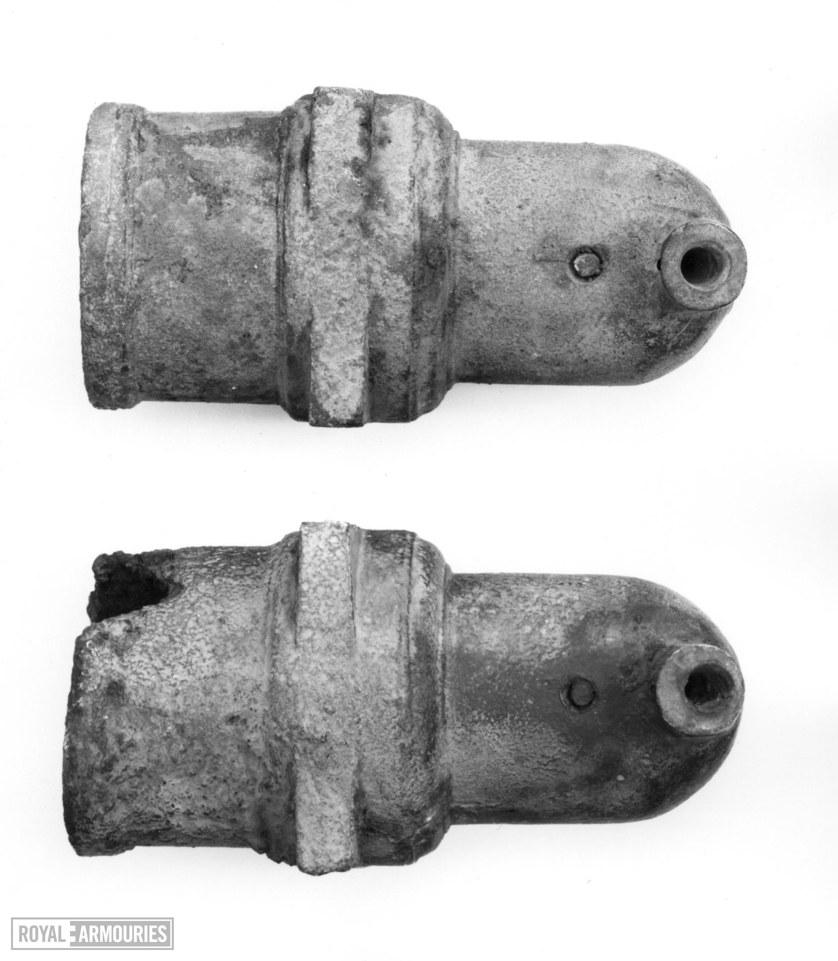 3.25 in mortar Made of bronze One of two mortars see also XIX.282