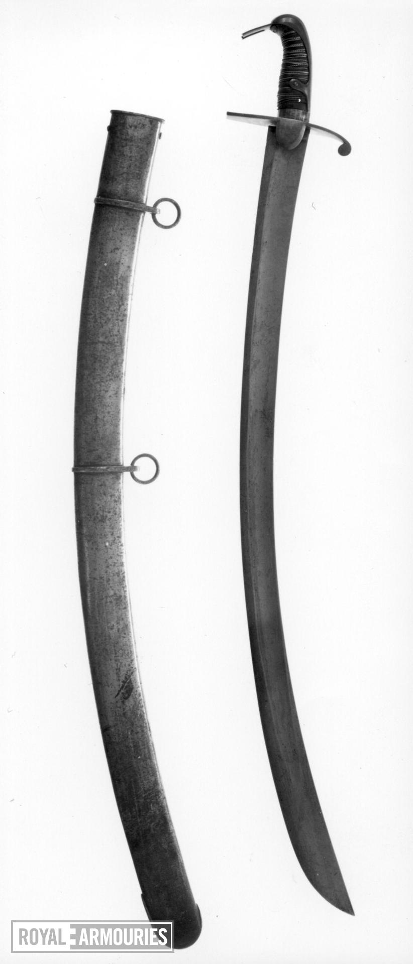 Sword and scabbard Light Cavalry Officer's sword and scabbard, Pattern 1796, by Osborn & Gunby.