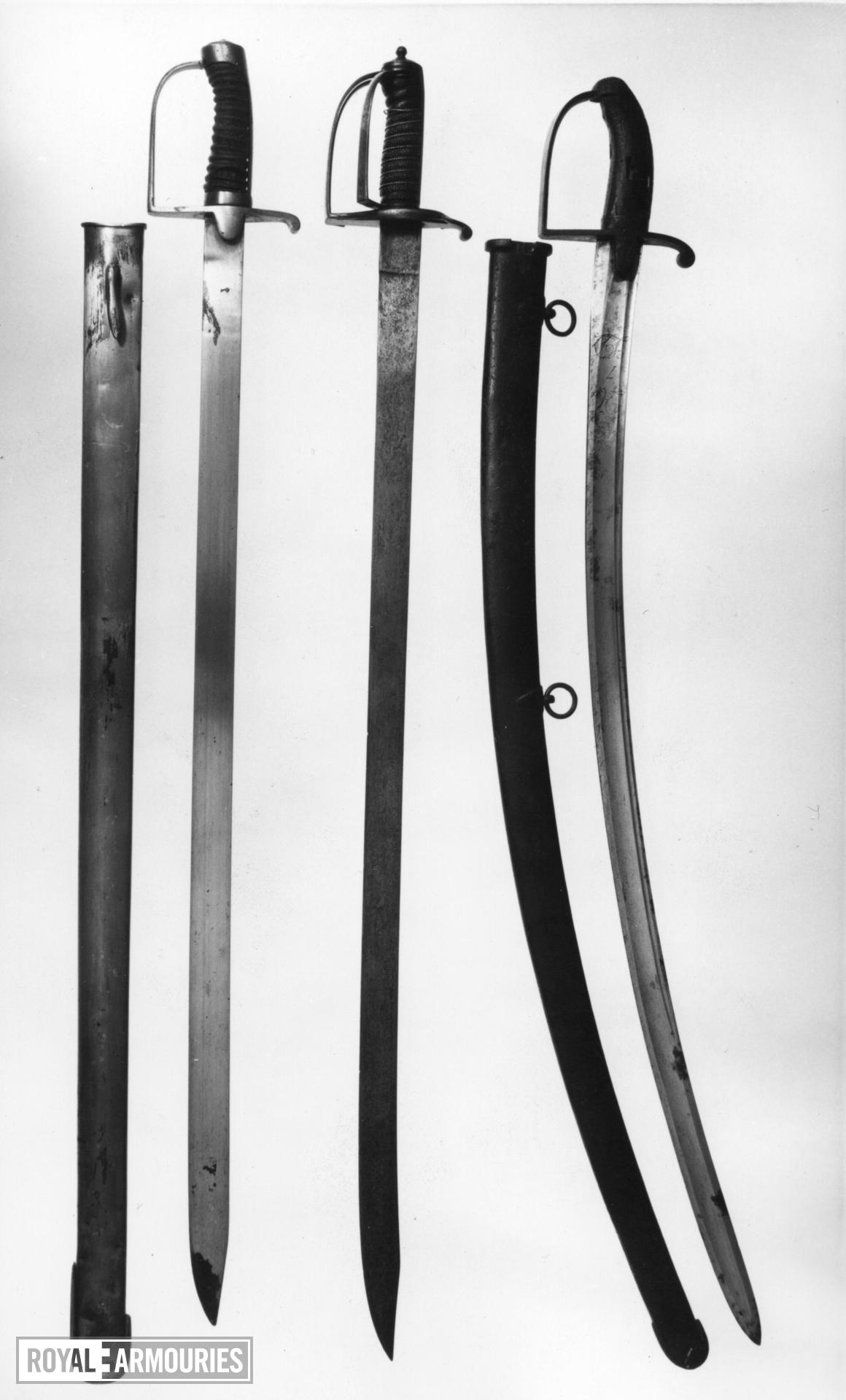 Sword Light Cavalry Trooper's sword. Royal Armouries Cavalry Type B. Blade inscribed [15th] King's Light Dragoons.