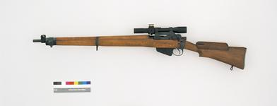 Thumbnail image of Centrefire bolt-action magazine sniper rifle - Enfield No. 4 (T)