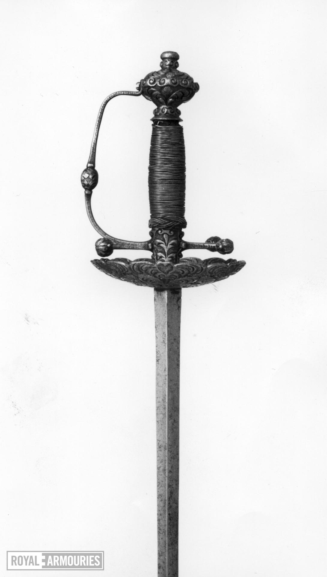 Sword - Rapier of cup-hilt form.