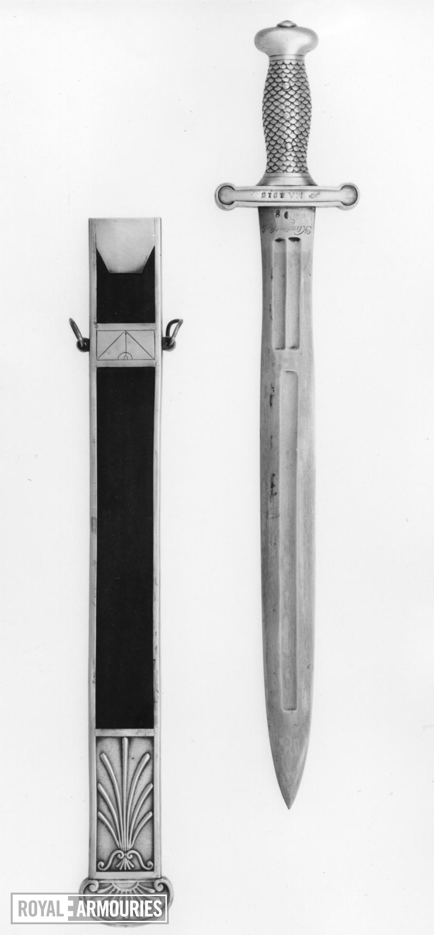 Sword Sword for the infantry or artillery. Sword 1797/98.