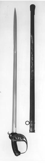Thumbnail image of Sword and scabbard Cavalry Trooper's sword and scabbard. Imperial German (Prussian) pattern 1889 (M89)