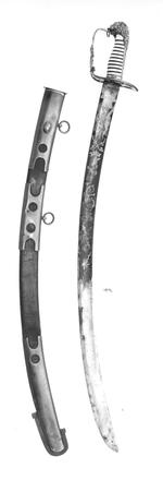Thumbnail image of Sword and scabbard Flank Officer's sword and scabbard. Pattern 1803.