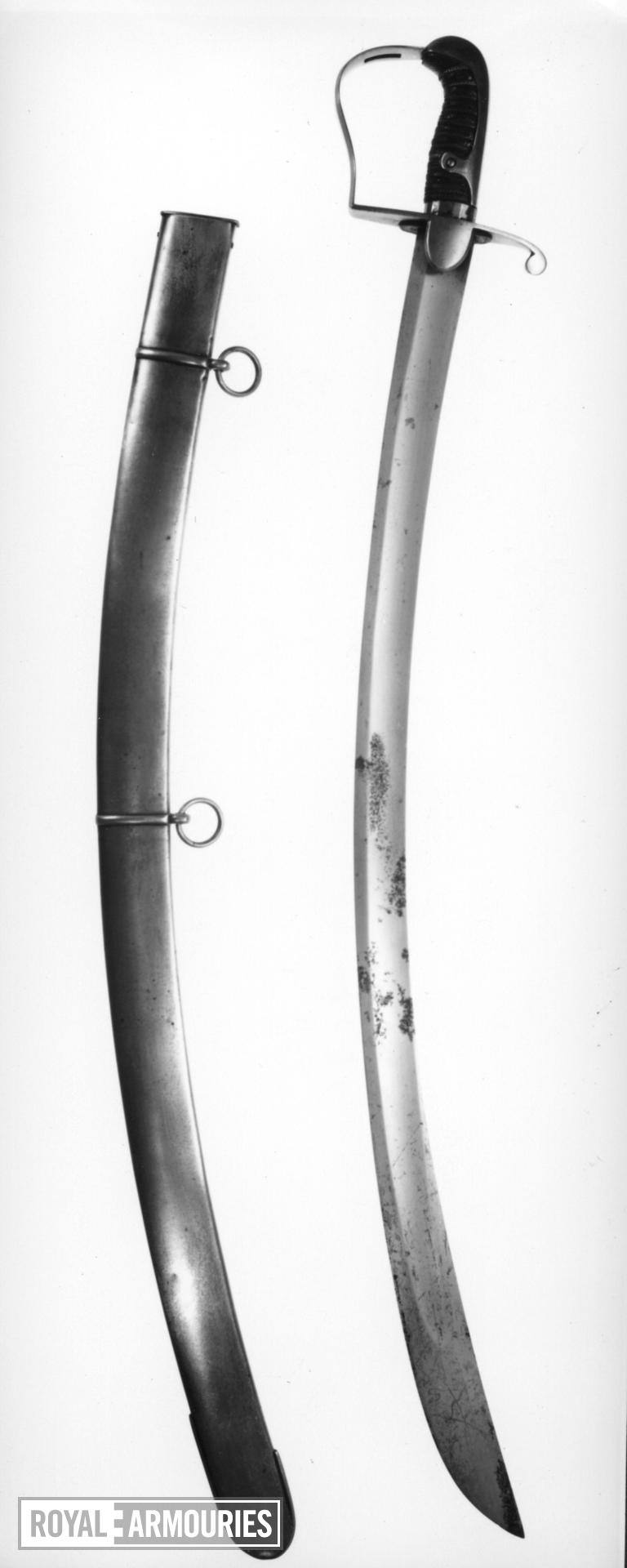 Sword and scabbard Light Cavalry Officer's sword and scabbard, Pattern 1796.