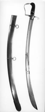 Thumbnail image of Sword and scabbard Light Cavalry Officer's sword and scabbard, Pattern 1796.