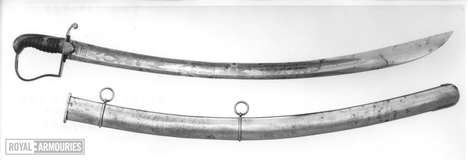 Sword and scabbard - Pattern 1796 Light Cavalry Officer's sword and scabbard