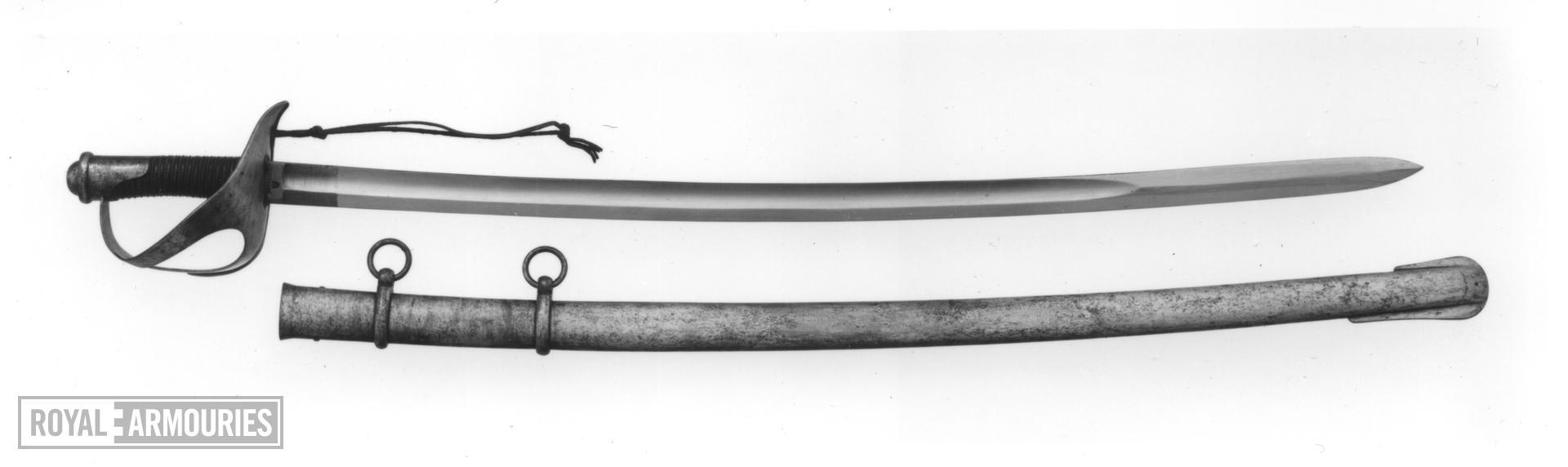 Sword and scabbard Model 1860 for cavalry and the Royal Horse carabineer toopers ('sciabola da Cavalleria Mod.1860 e da Carabinieri Reali a Cavallo')