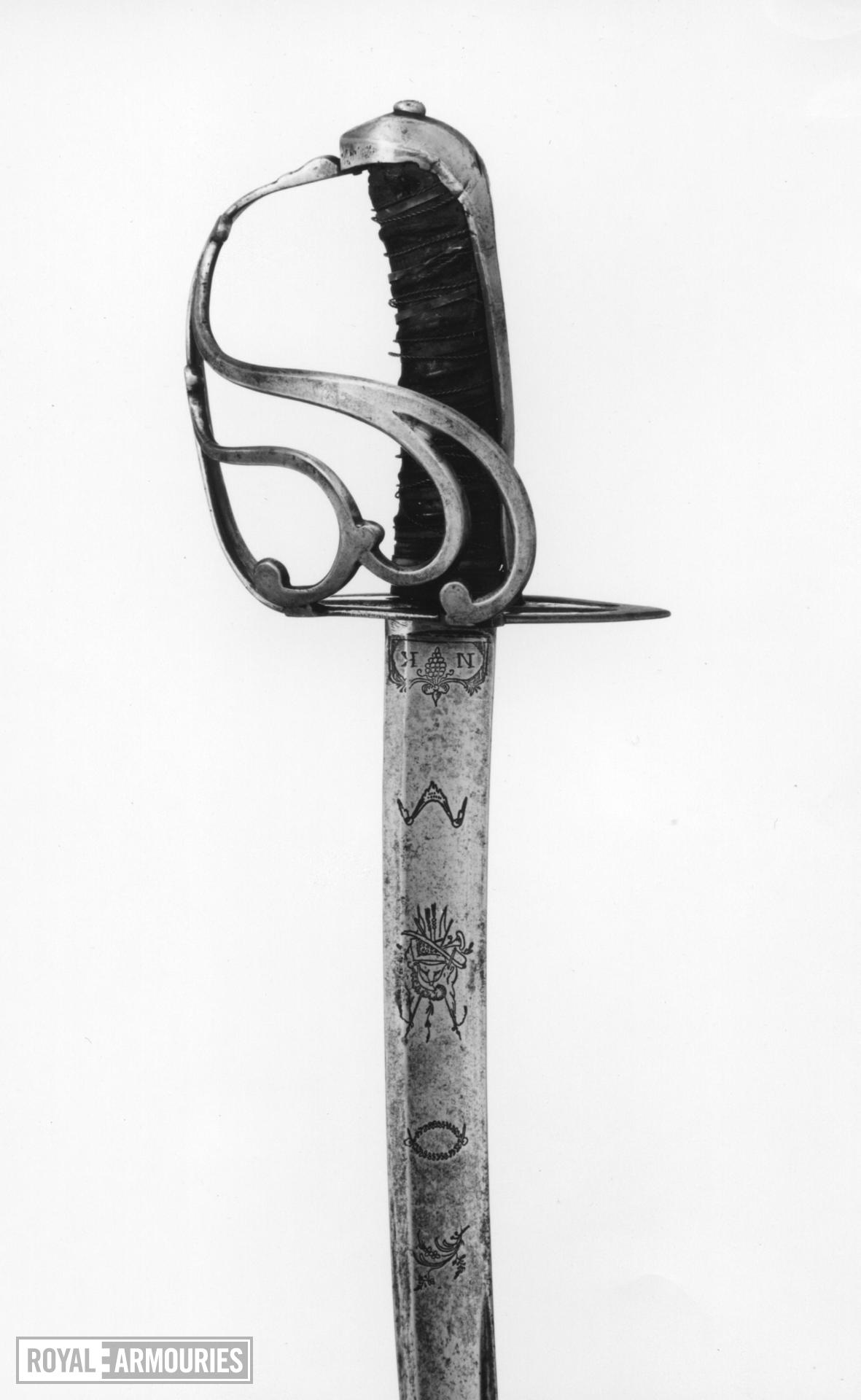 Sword sword, probably Gardes Francaises, post 1782.