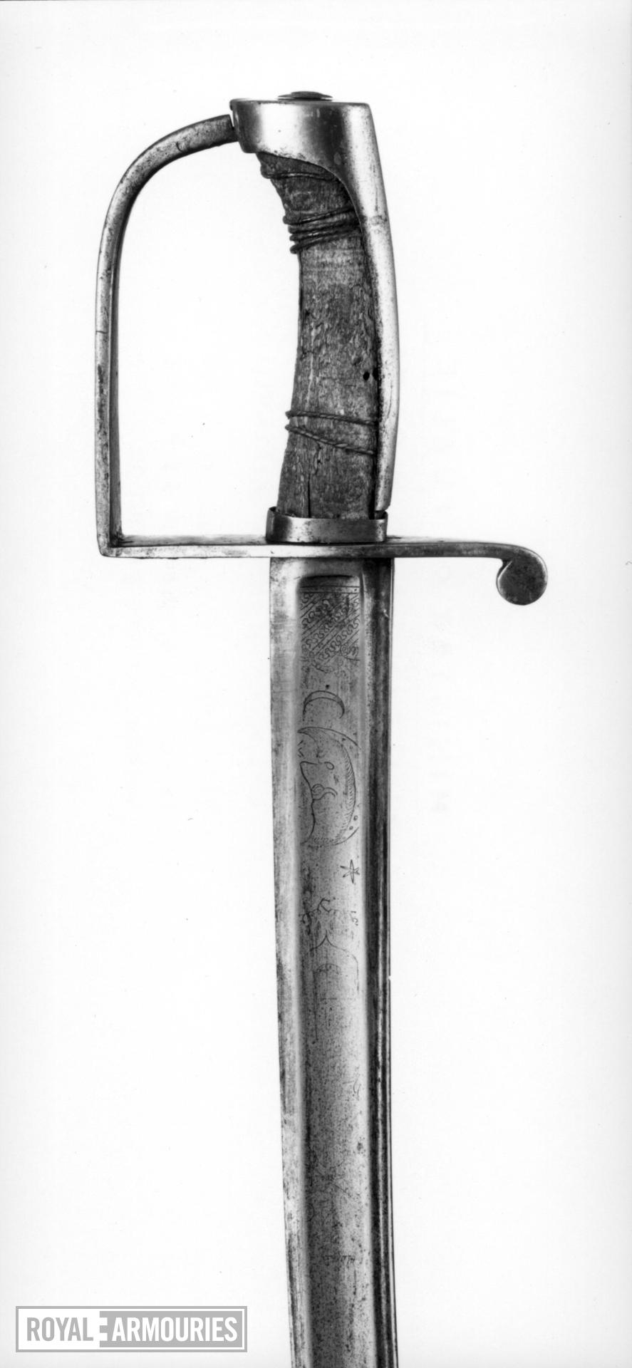 Sword Cavalry sword. Hilt British, blade German (imported).