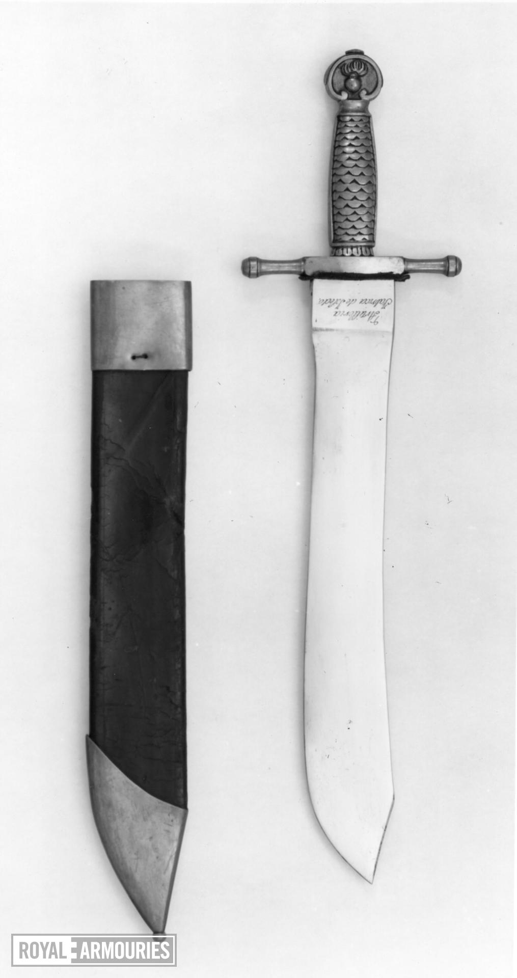 Sidearm and scabbard
