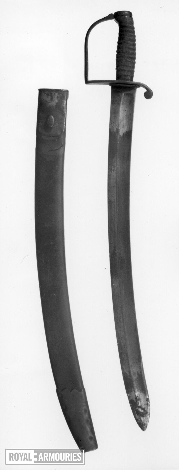 Sword and scabbard Police sword and scabbard. For the Dismounted Horse Patrol. Blade marked W. Parker.
