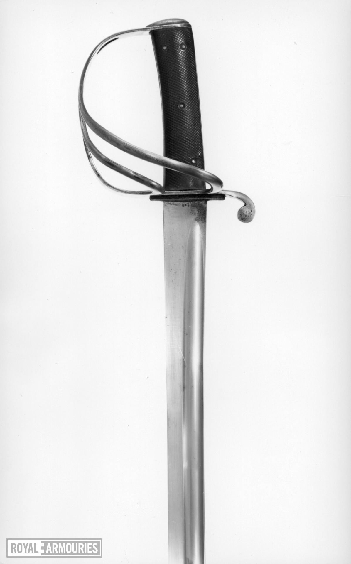 Sword and scabbard Cavalry sword and scabbard, Pattern 1853.