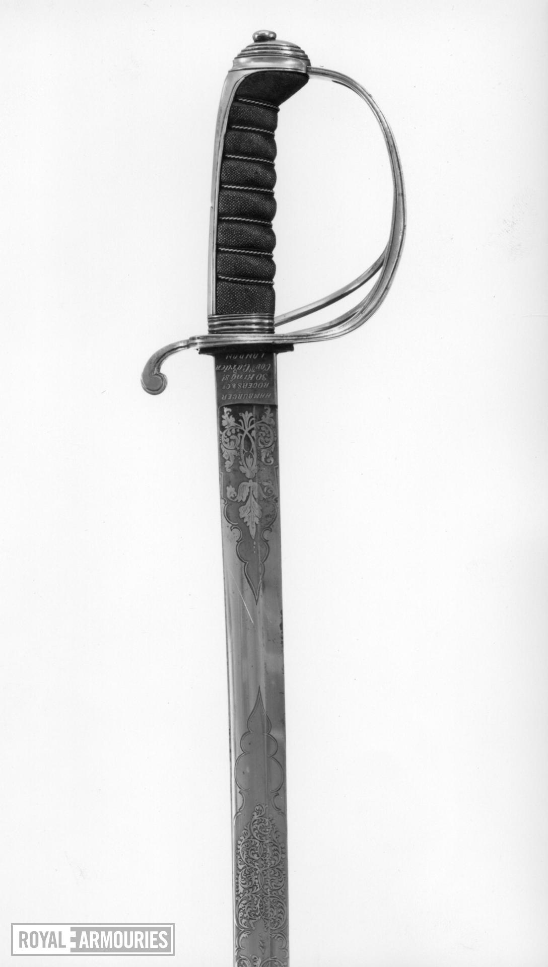 Sword Royal Artillery Officer's sword, Pattern 1821.