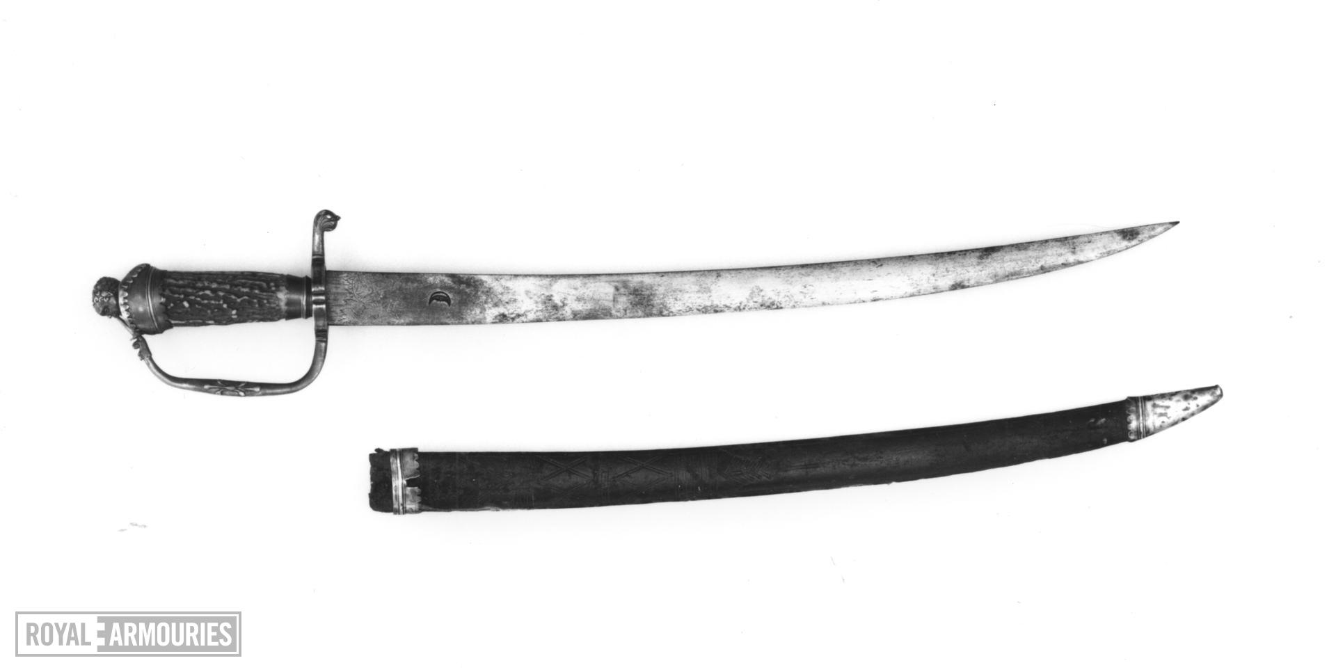 Hanger and scabbard
