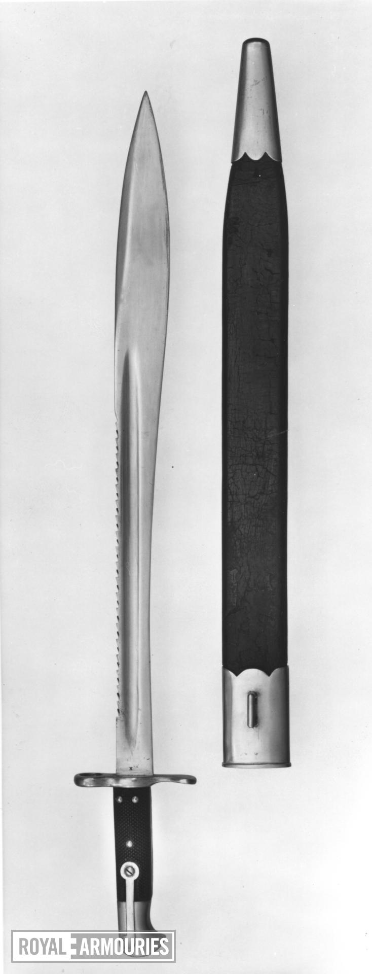 Bayonet and scabbard Elcho bayonet & scabbard for Martini Henry