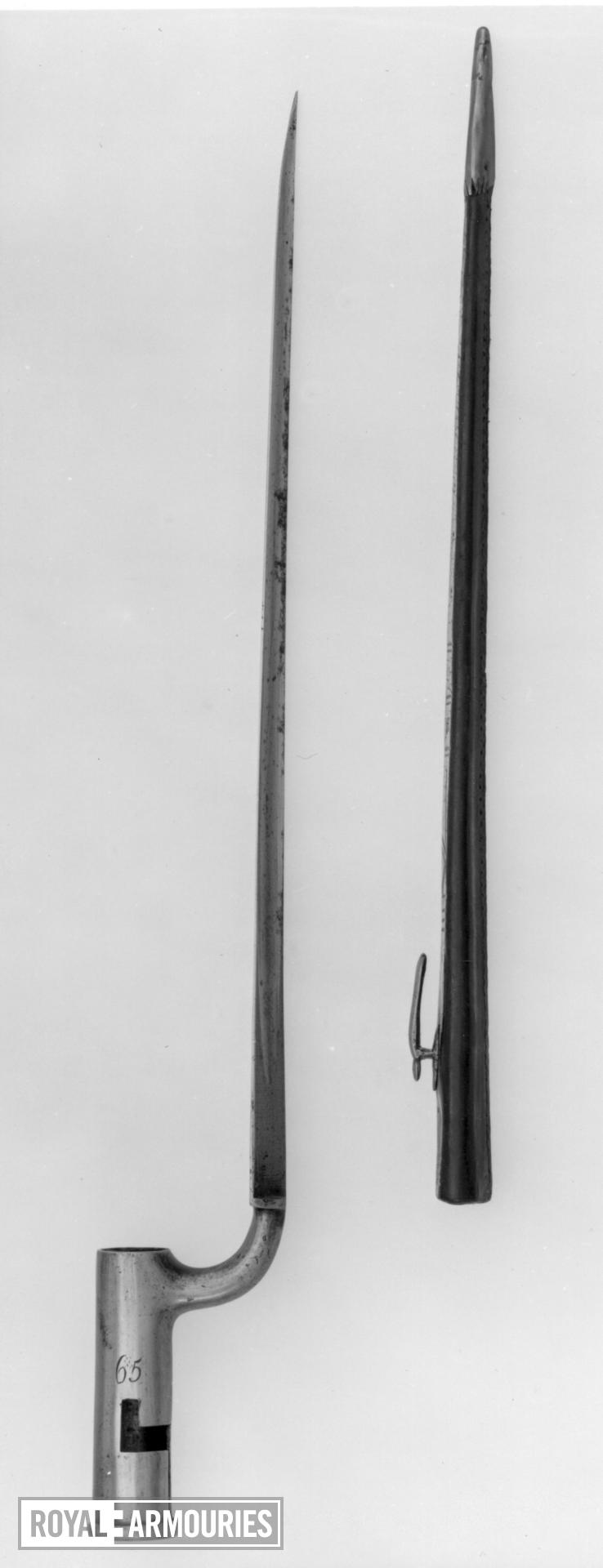 Bayonet and scabbard