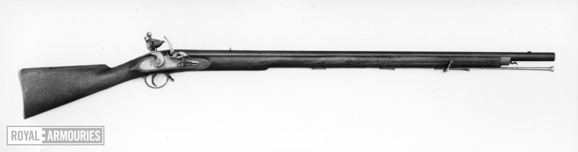 Flintlock muzzle-loading musket - By Westley Richards