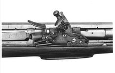 Thumbnail image of Flintlock breech-loading superimposed military musket - By Jover and Belton For the East India Company