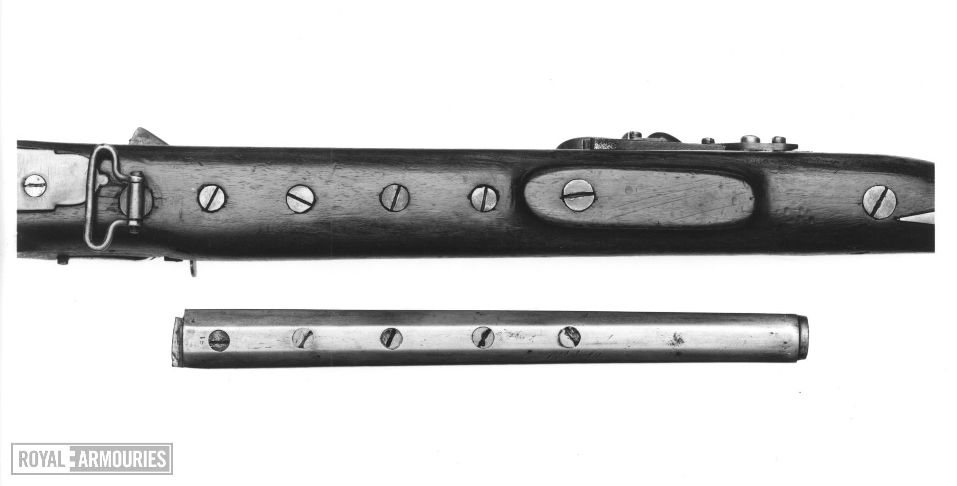 Flintlock breech-loading superimposed military musket - By Jover and Belton For the East India Company