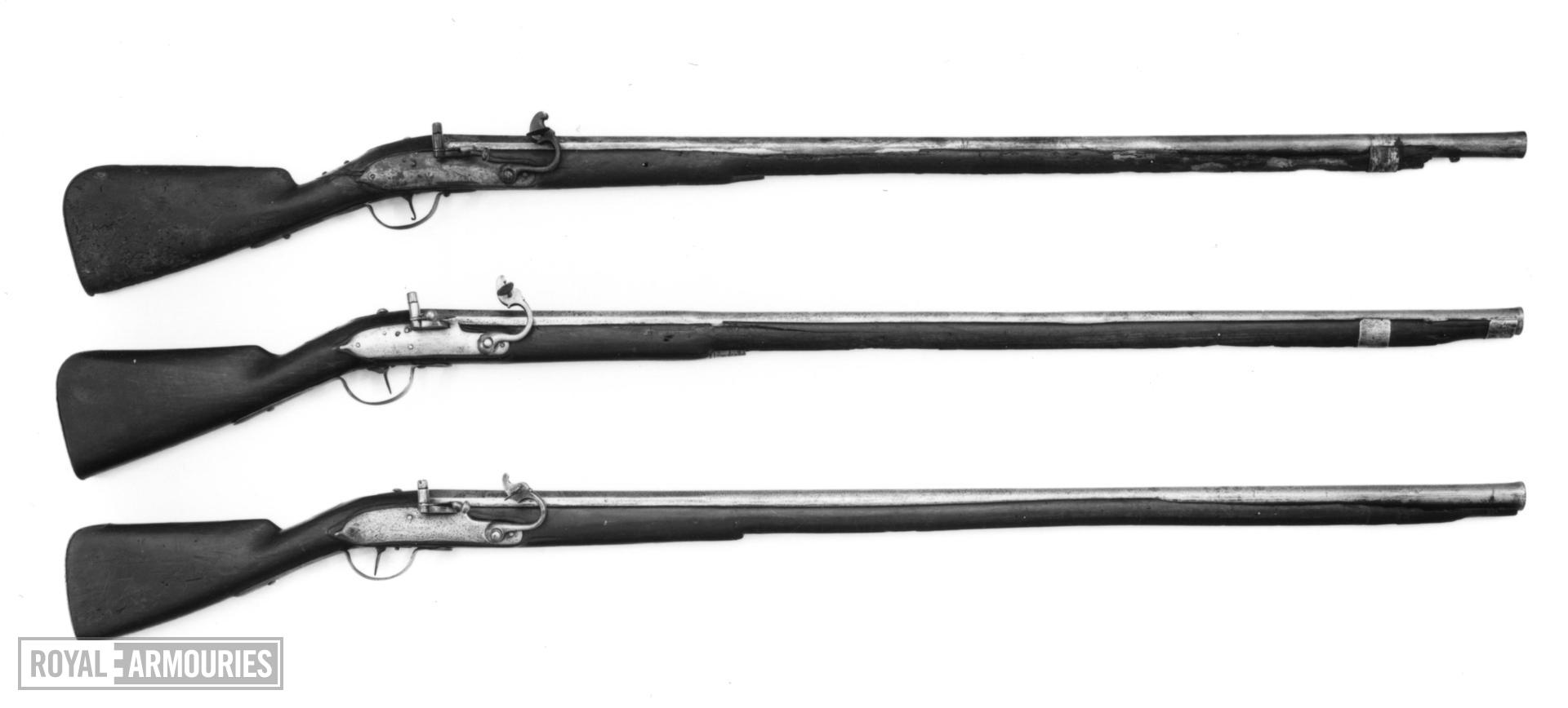 Matchlock muzzle-loading musket - William III Pattern