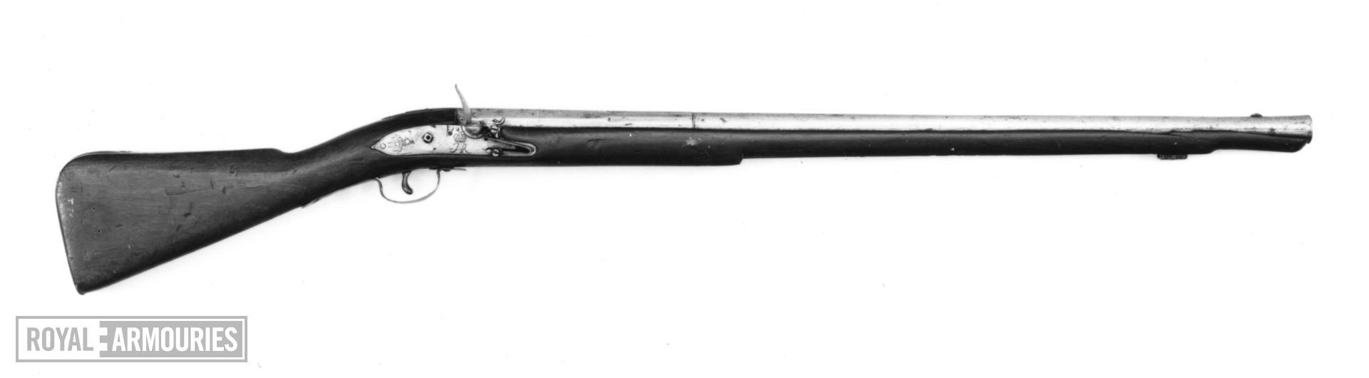 Flintlock muzzle-loading military musket - By Brooke