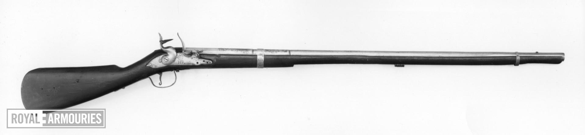 Flintlock muzzle-loading cavalry carbine - William and Mary Pattern
