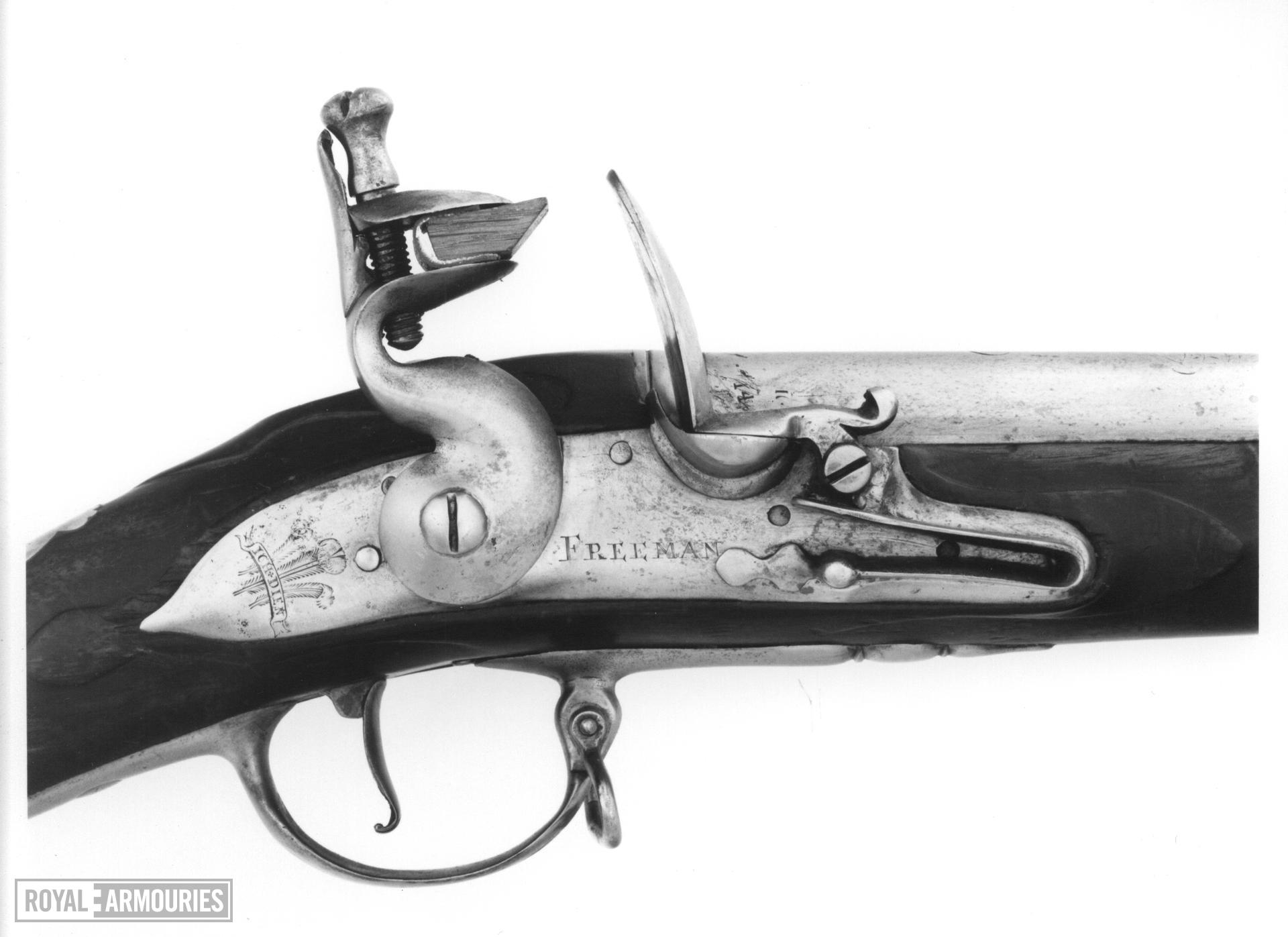 Flintlock muzzle-loading military musket Infantry musket for the Royal Welsh Fusiliers Lock by Freeman