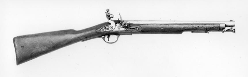 Flintlock muzzle-loading carbine