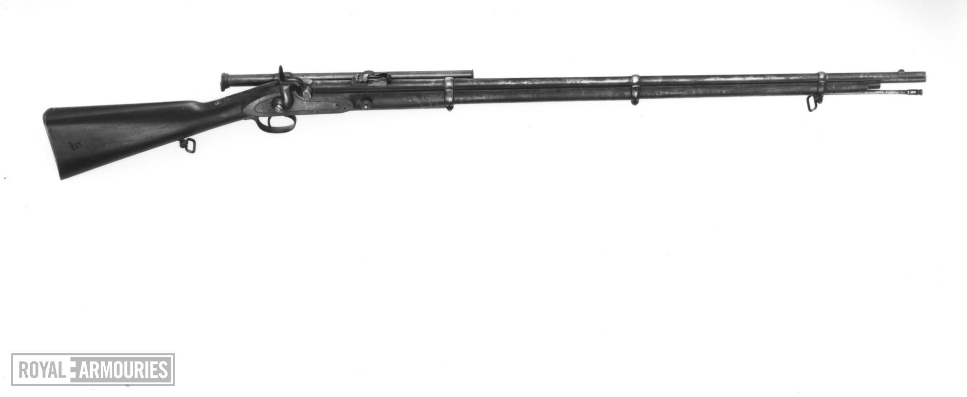 Percussion muzzle-loading rifle - Whitworth Pattern For trials Subsequently fitted with Davidson's telescopic sight