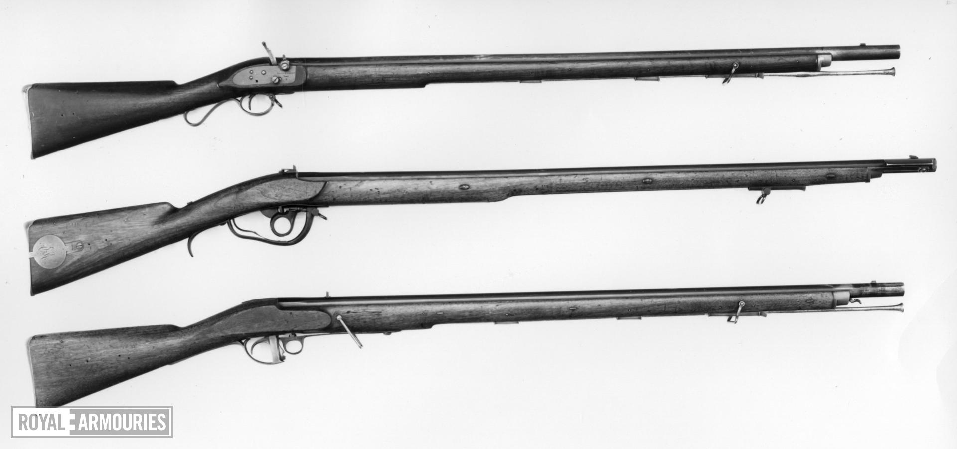 Percussion muzzle-loading musket - Lacy and Davis Patent