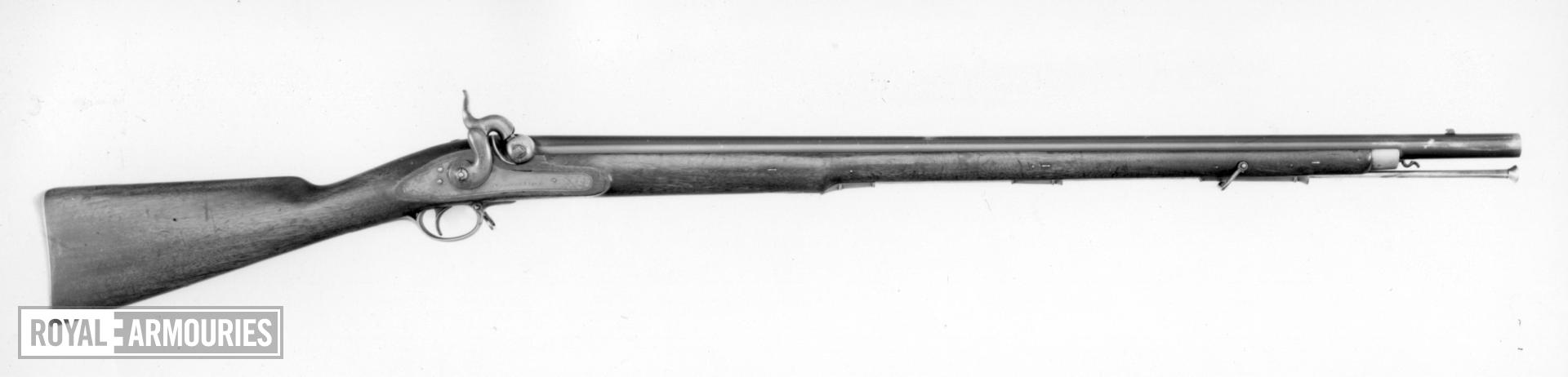 Percussion muzzle-loading military musket - By Wilkinson and Son