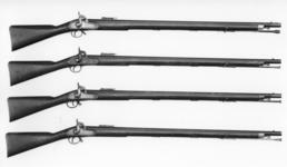 Thumbnail image of Percussion muzzle-loading military rifle-musket - Minie Pattern 1851 Experimental by Chadwick