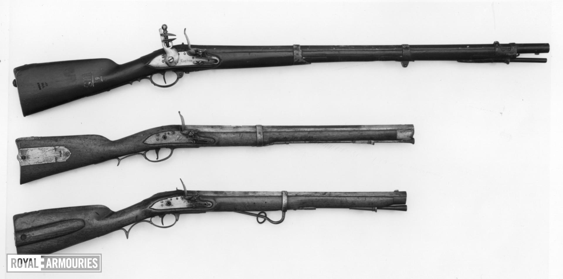 Flintlock muzzle-loading rifle - Model 1777