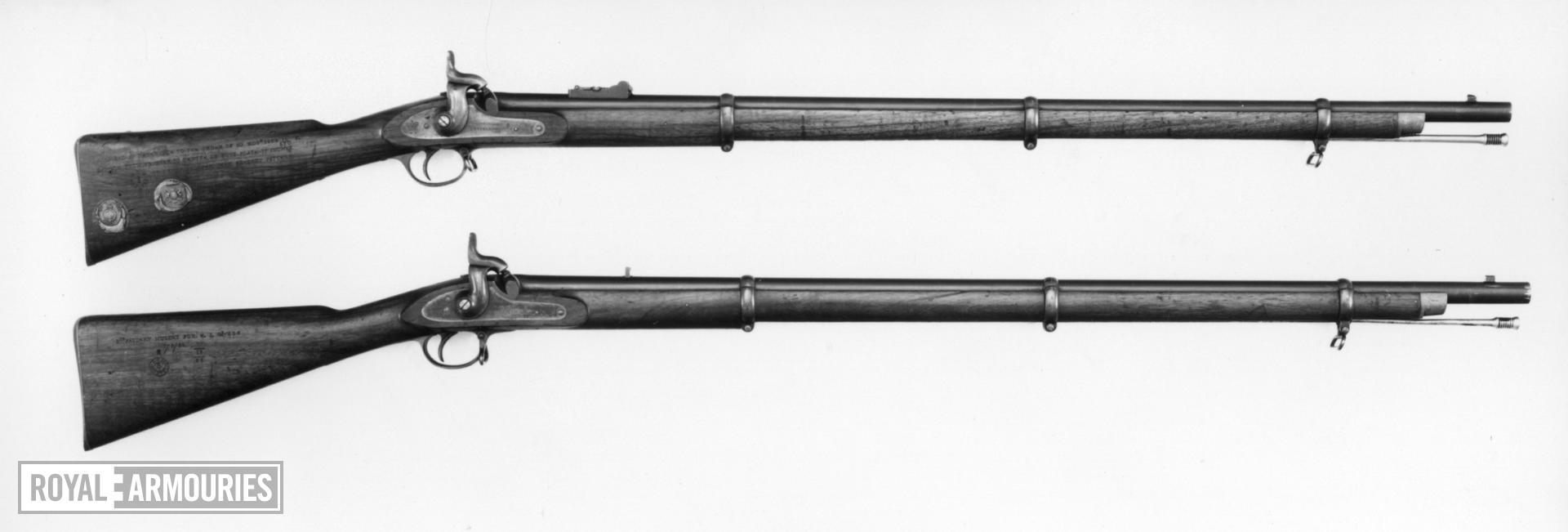 Percussion muzzle-loading military rifle-musket - Pattern 1853, sealed pattern