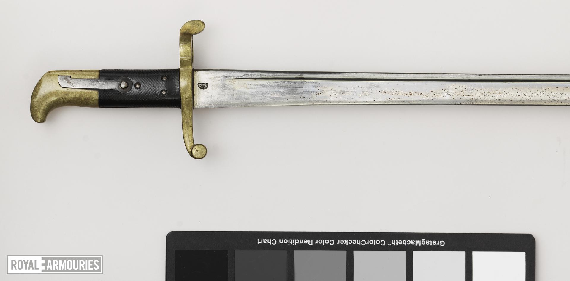 Bayonet Sword bayonet, Pattern 1855 for Sappers and Miners