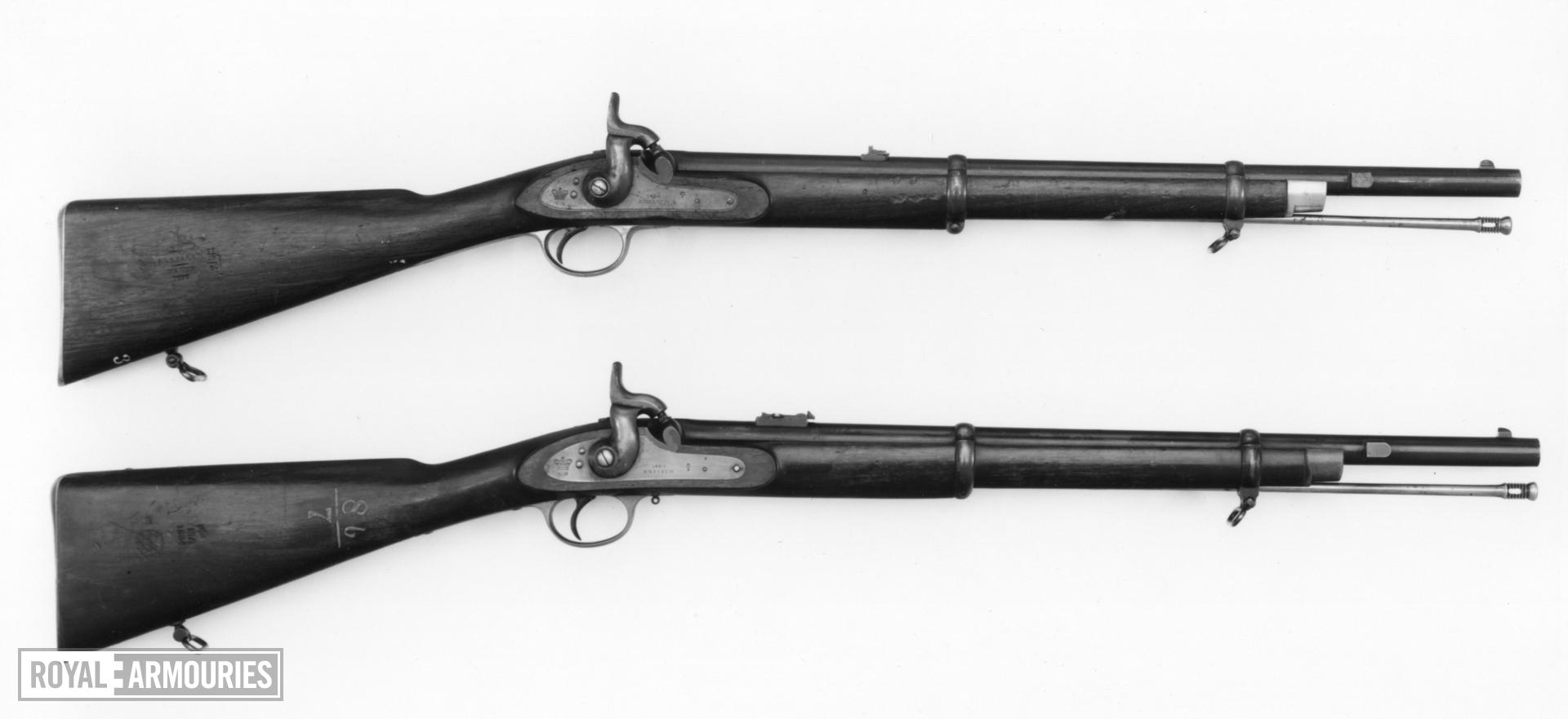 Percussion muzzle-loading military carbine - Pattern 1861 for Artillery,1st model, sealed pattern Artillery carbine, 1st model