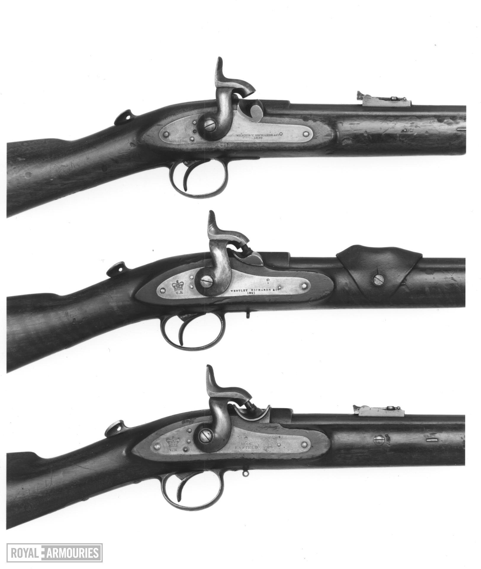 Percussion breech-loading cavalry carbine - Model 1861 Westley Richard's pattern