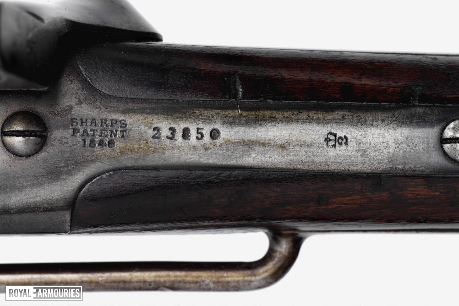 Percussion breech-loading carbine - Sharps Carbine By Sharps Rifle Manufacturing Company of Hartford