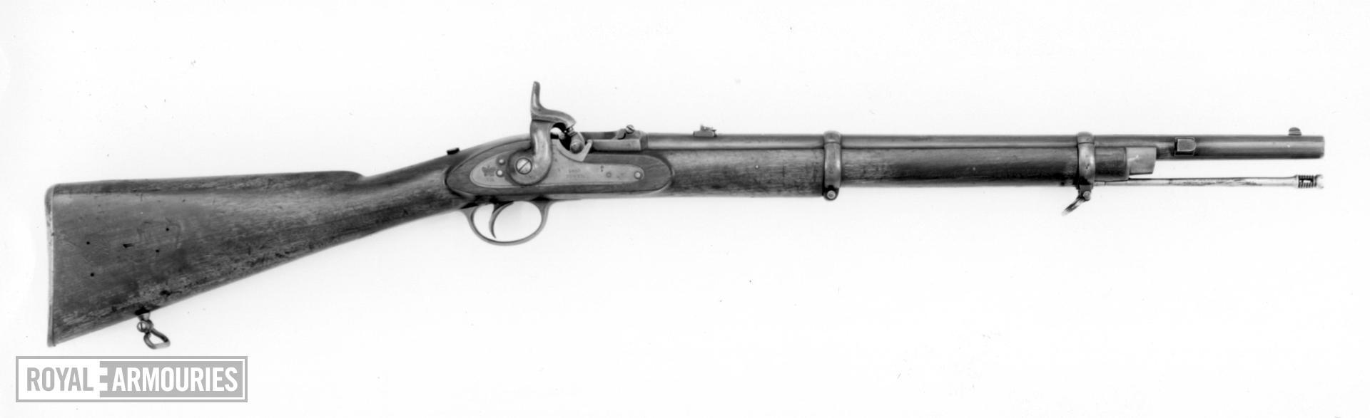 Percussion breech-loading military carbine - By F. A. Braendlin