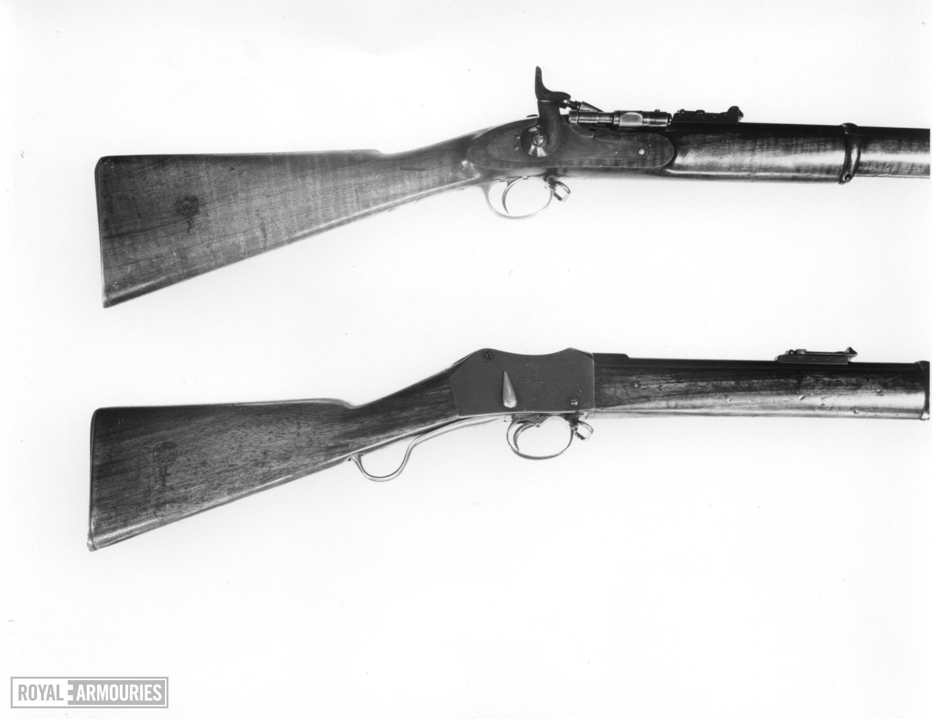Centrefire underlever breech-loading military rifle - Martini-Enfield Mk. II