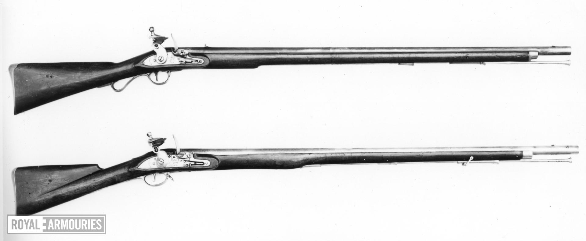 Flintlock muzzle-loading military musket - New Land Light Infantry Pattern